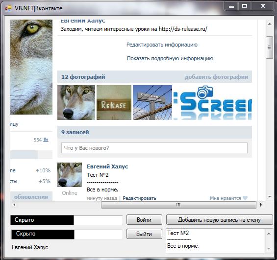 VK Screen Исходники.NET