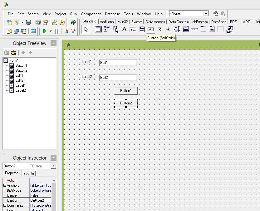 2 Простая база данных на Delphi7