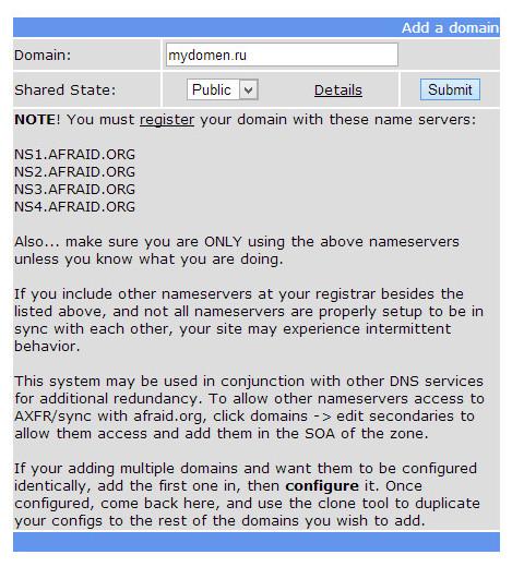 dns7 Как сделать редирект с домена не платя деньги за хостинг