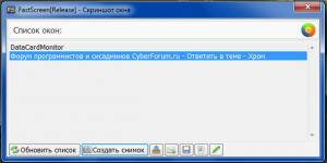 Скриншот окна 300x150 Стабильная версия FastScreen   СКОРО