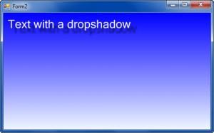 текст с тенью 300x187 Исходники и примеры