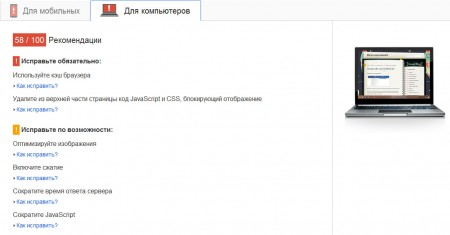 pagespeed1 450x235 Сервис PageSpeed Insights
