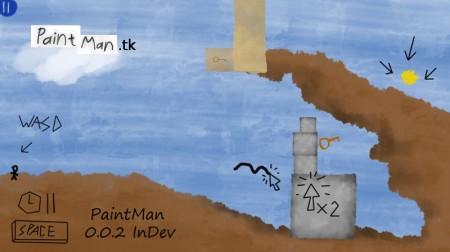PainManScreen 450x252 PaintMan 0.0.2   приключения рисованного человечка