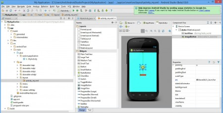 android studio 21 450x228 Первая программа в Android Studio