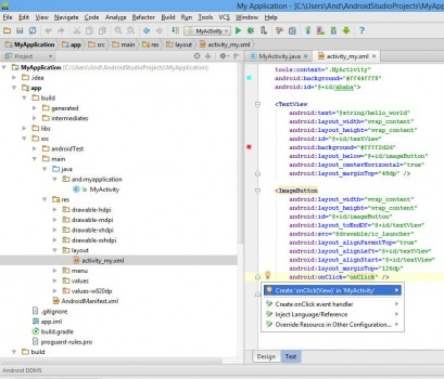 android studio 31 409x350 Первая программа в Android Studio