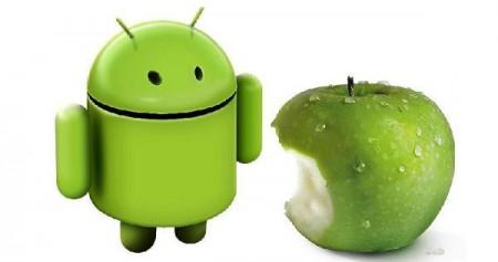 android apple 450x237 Как синхронизировать файлы на Андроид  и Apple  устройствах?