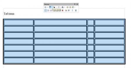 tablica format 3 450x235 Чем заменить Word? Работа с таблицами в программе Open Office Writer!